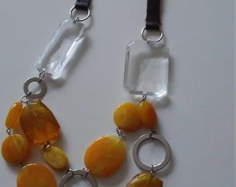 Beautiful acrylic bead necklace