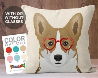 Corgi Pillow | Fiance Gift | Dog Lover Gift | Stuffed Dog Pillow | Housewarming Gift | Unique Throw Pillow | Dog Art | Decorative Pillow