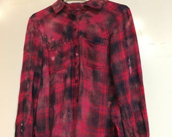 Acid wash flannel