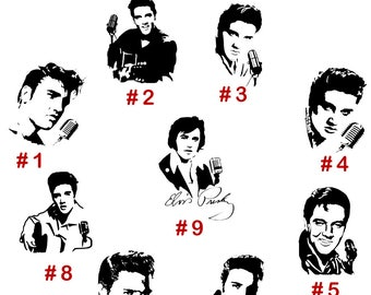 Elvis Presley Vinyl Decal Sticker American Singer Actor Dancer Car Window Wall