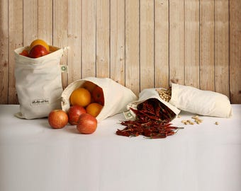 Muslin Produce Bags by All Cotton and linen Reusable bags reusable vegetable bags cotton bags muslin bags