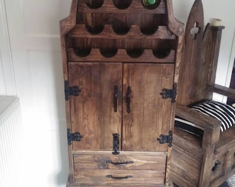 Wine cabinet rustic looking