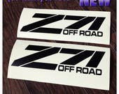 "Z71 Off Road Body Tailgate Fender Decals 2PC Set Body Window Sticker Vinyl For Silverado Tahoe GMC Sierra c3 15"""