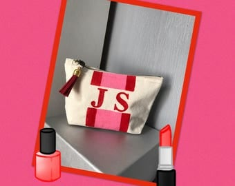 Personalised make up toiletry bag small