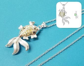 1, Glow in Dark Pendant, Luminous Pendant, Fish Pendant, Silver Jewelry, Hollow Pendant, Jewelry Pendant, Silver Glow Charm, Glowing, #25