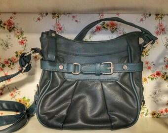 Navy Blue Vintage Crossbody Bag