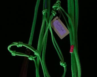 Lime Rope Halter