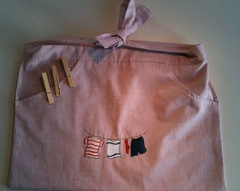 Apron for storing clothespins