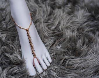 Metallic anklet /barefoot sandals