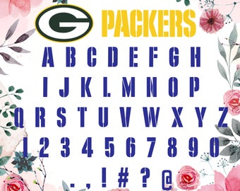 Green Bay Packers  Font Svg/ Green Bay Packers svg /Green Bay Packers  letters for Silhouette,Cricut, Print,Design and any more