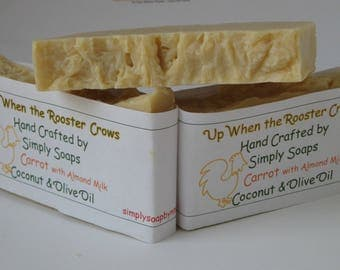 Carrot and Almond Milk 2 oz Soap Bar
