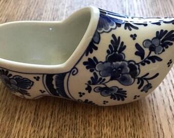 Vintage De Porceleyene Fles Dutch Shoe