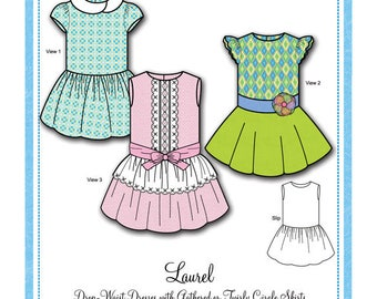 Bonnie Blue Designs 157 - Laurel / Sizes 2yrs - 8 yrs