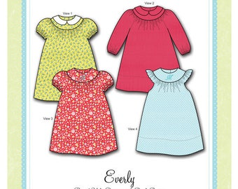 Bonnie Blue Designs 302 - Everly / Sizes 6, 12, 18, & 24 mos and 3, 4, 5 yrs