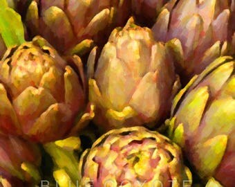 Artichoke Print Kitchen Art Botanical Print Italy Print Artichoke Art Digital Download Printable File #bc113