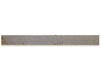 4' Shiplap Board Milled from Reclaimed Snow Fence Wood - Laramie Finish