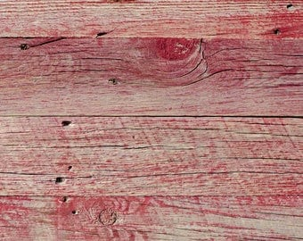 "4"" Reclaimed Wood Planks from Reclaimed Snow Fence Wood - Sundance-Red Finish"