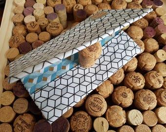Pretty reversible fabric checkbook