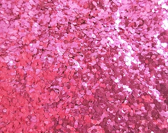 PINK BIO GLITTER - Chunky 1mm- Biodegradable Glitter- Festival Glitter -Eco Friendly - Mermaid Glitter - Cosmetic Grade