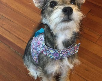 Small dog designer pet harness with handle