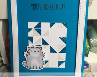 Encouragement Card with Cat