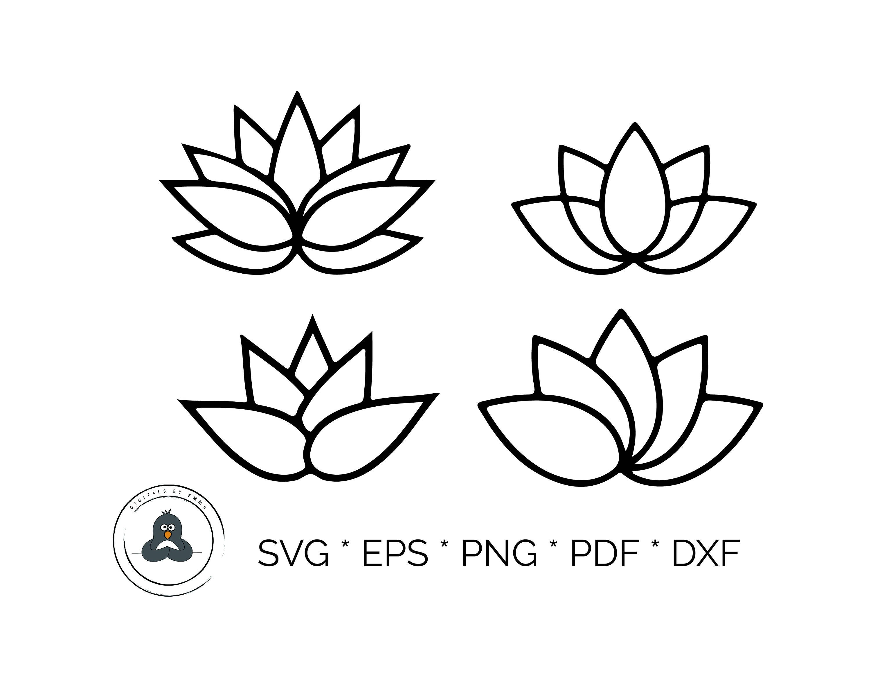 Lotus Flower Silhouette Black Silhouette Lotus Flowers Icon On