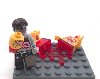 Mmm... Blood n' Guts n' Brains Custom Lego Zombie Set Yellow Minifigure