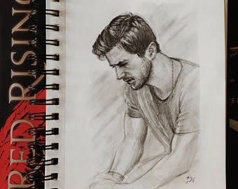 PIERCE BROWN graphite portrait drawing