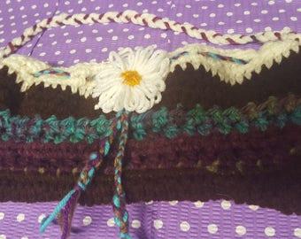 Bohemian inspired Flower Clutch