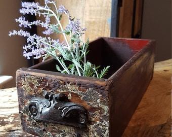 Vintage decorative wood drawer