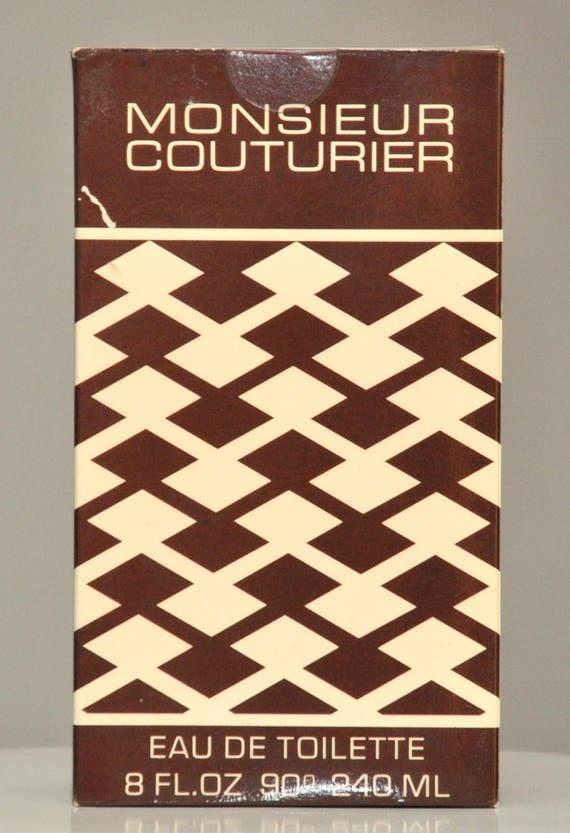 Jean Couturier Monsieur Eau De Toilette Edt 240ML 8 Fl. Oz. Perfume For Man Rare Vintage New 1976 Closed With Adhesive