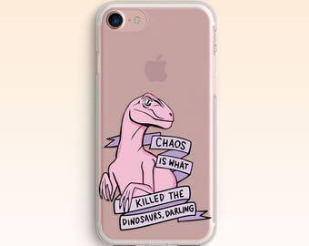Dinosaur Case for Samsung S8 Clear iPhone SE Case iPhone 7 Plus Case iPhone 6s Case iPhone Clear Case 7 iPhone Clear Case for Samsung S7 069