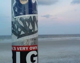 Beach Post at Sunset