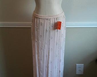 Vintage Judith Ann 100% silk Beaded Skirt 80s era