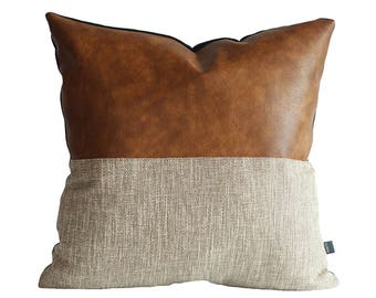 How To Make A Leather Throw Pillow : Leather pillow Etsy