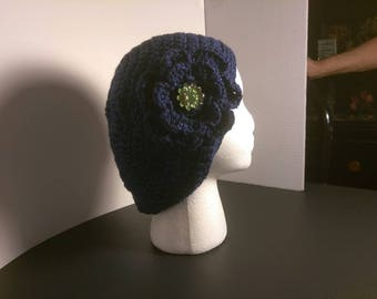 Crochet Slouchy with removable flower