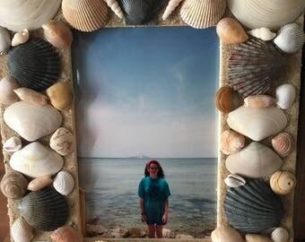 Seashell photo frame