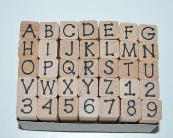 Uppercase Letters Stamp Set