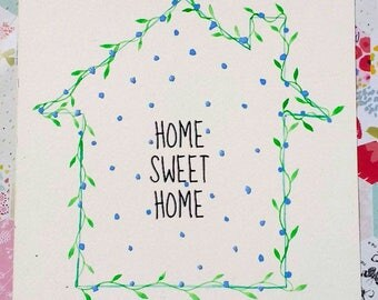 Handpainted Home Sweet Home