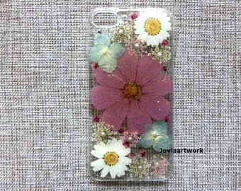 Genuine pressed dried flower iphone case - iphone crystal clear hard case