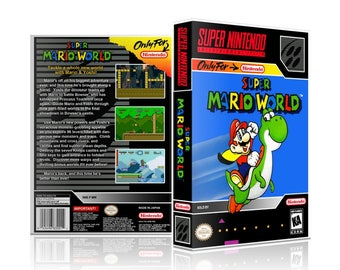 Super Mario World SNES UGC Video Came Collector's Case with Professional Grade Cover Art