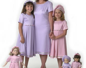 Mother Daughter Matching Dresses Pink or Purple from 18.99 - Great Birthday Gift or Wedding/Church Outfits