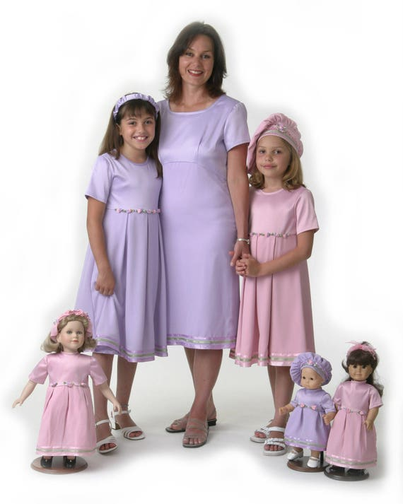mother daughter matching dresses pink or purple from 1899
