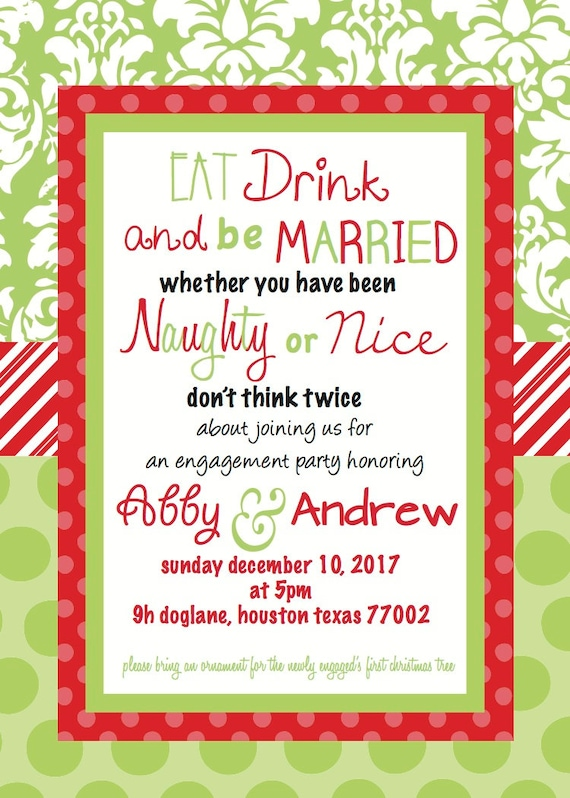 Engagement Party Invitation – Christmas Engagement Party Invitations