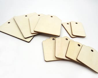 Set of 10. Assorted. Wooden Gift Tags. Gift Tags. Marking Tags. Price Tags