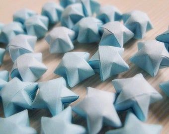 Origami Lucky Stars - Light Blue Wishing Stars,Home Decor,Gift Enclosure,Party Supply,Embellishment