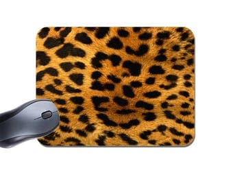 Leopard Skin Mouse Mat. Animal Print Mouse Pad. High Quality Mouse Pad