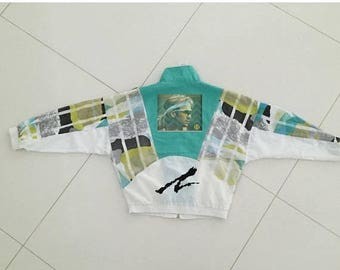 LAST DAY 35% OFF Tennis Andre Agassi track jacket windbraker Big Logo size S