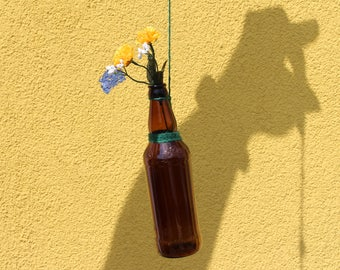 Glass Bottle Hanging Vases