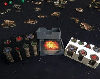 X-Wing Miniatures Token and Damage Deck Holder